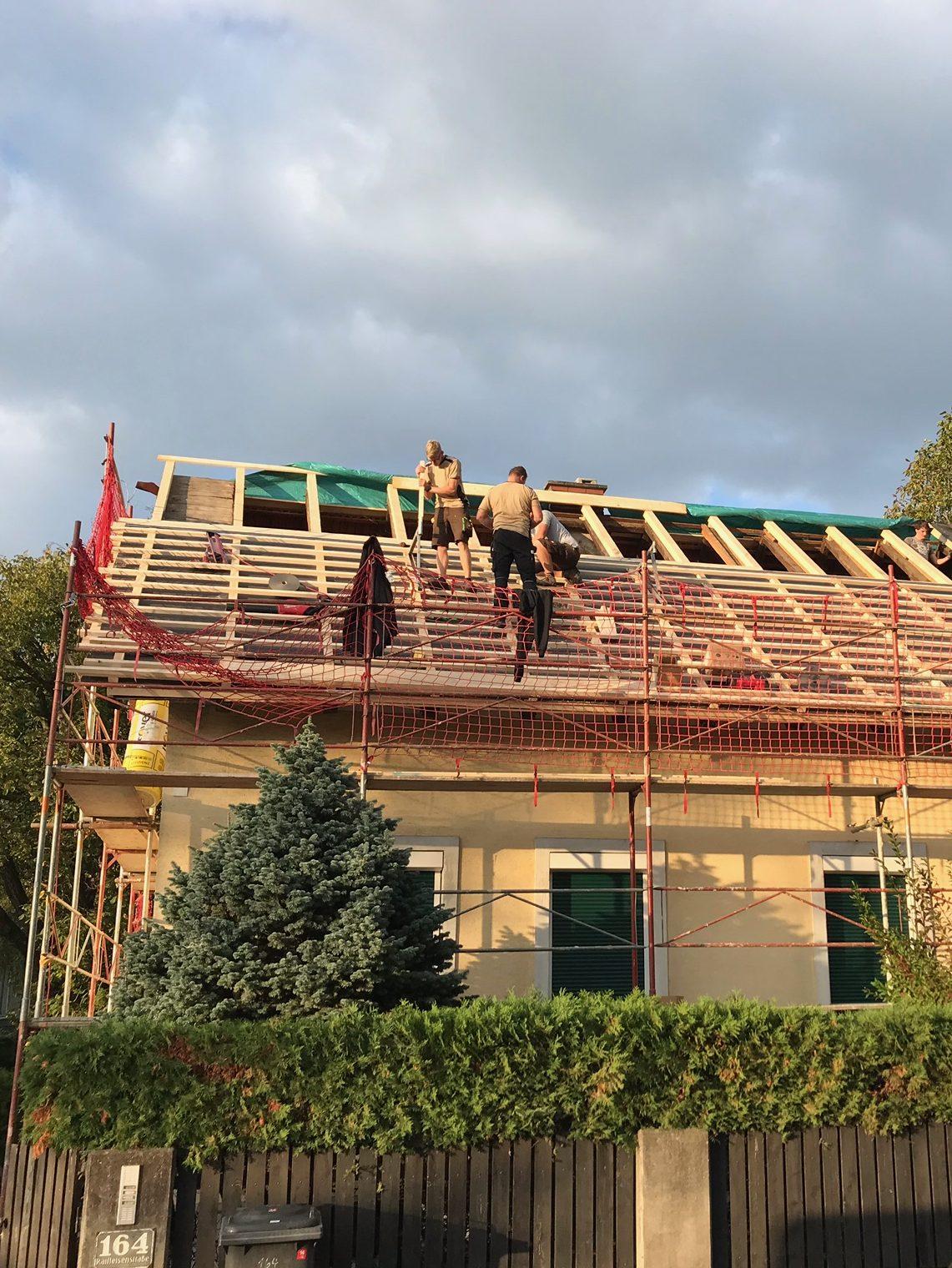 Dach abdecken