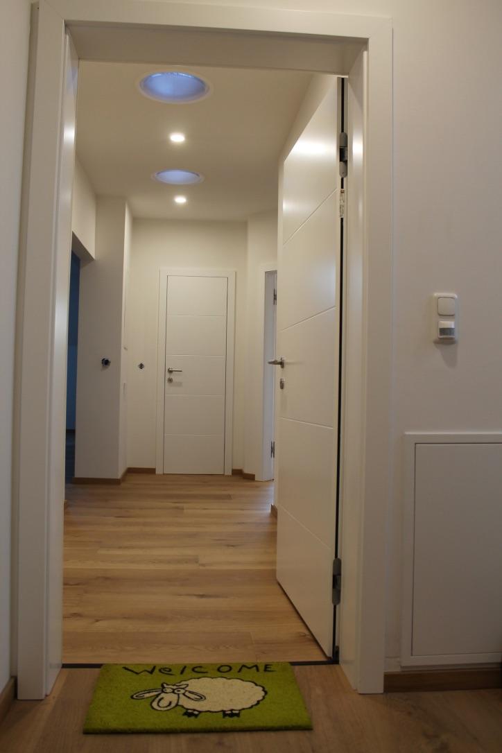Wohnungstrennwand mit Tür